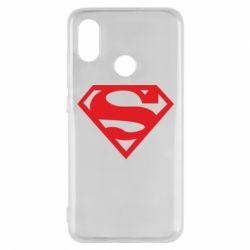 Чехол для Xiaomi Mi8 Superman одноцветный