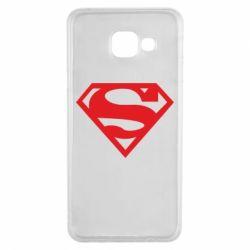 Чехол для Samsung A3 2016 Superman одноцветный