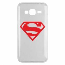 Чехол для Samsung J3 2016 Superman одноцветный