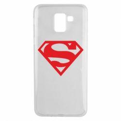 Чехол для Samsung J6 Superman одноцветный
