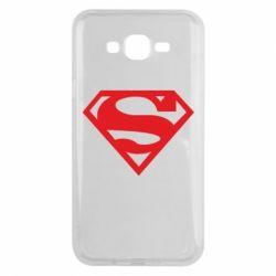 Чехол для Samsung J7 2015 Superman одноцветный
