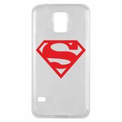 Чехол для Samsung S5 Superman одноцветный