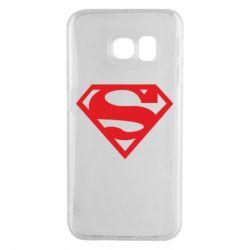 Чехол для Samsung S6 EDGE Superman одноцветный