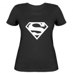 Женская футболка Superman одноцветный