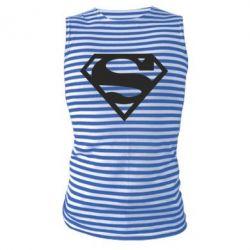 Майка-тельняшка Superman одноцветный - FatLine