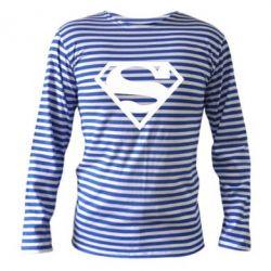 Тельняшка с длинным рукавом Superman одноцветный - FatLine