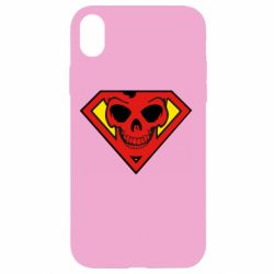 Чехол для iPhone XR Superman Skull