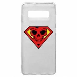 Чехол для Samsung S10+ Superman Skull