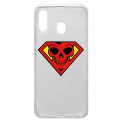Чехол для Samsung A20 Superman Skull
