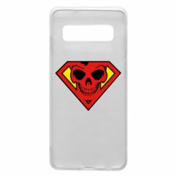 Чехол для Samsung S10 Superman Skull