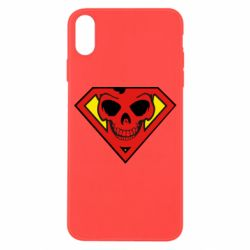 Чехол для iPhone X/Xs Superman Skull