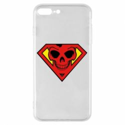 Чехол для iPhone 8 Plus Superman Skull