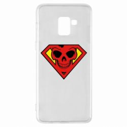 Чехол для Samsung A8+ 2018 Superman Skull