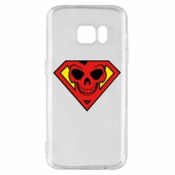 Чехол для Samsung S7 Superman Skull