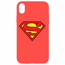 Чехол для iPhone XR Superman Symbol