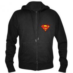 Мужская толстовка на молнии Superman Symbol - FatLine