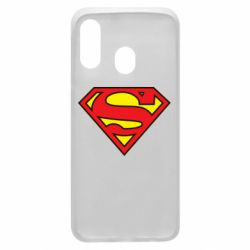 Чехол для Samsung A40 Superman Symbol