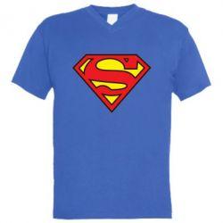 Мужская футболка  с V-образным вырезом Superman Symbol