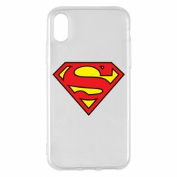 Чехол для iPhone X/Xs Superman Symbol