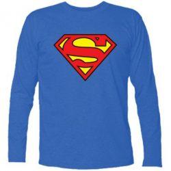 Футболка с длинным рукавом Superman Symbol - FatLine