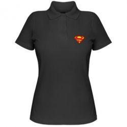 Женская футболка поло Superman Symbol - FatLine