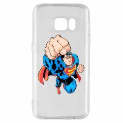 Чохол для Samsung S7 Супермен Комікс