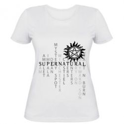 Женская футболка Supernatural Art