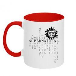 Кружка двухцветная Supernatural Art