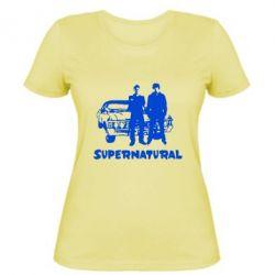 Женская футболка Supernatural Братья Винчестеры - FatLine