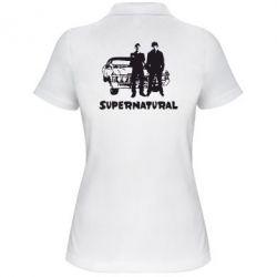 Женская футболка поло Supernatural Братья Винчестеры - FatLine