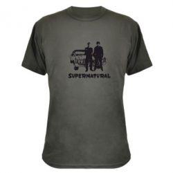 Камуфляжная футболка Supernatural Братья Винчестеры - FatLine