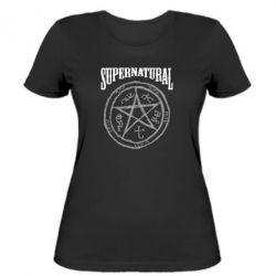 Женская футболка Supernatural круг - FatLine