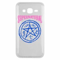 Чехол для Samsung J5 2015 Supernatural круг - FatLine
