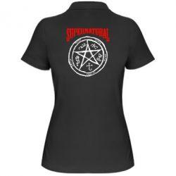 Женская футболка поло Supernatural круг - FatLine