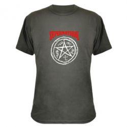 Камуфляжная футболка Supernatural круг - FatLine