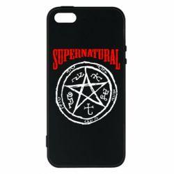 Чехол для iPhone5/5S/SE Supernatural круг - FatLine