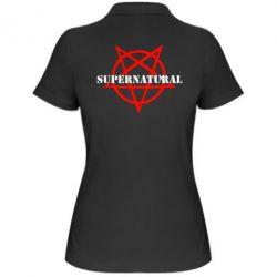 Женская футболка поло Supernatural