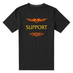 Мужская стрейчевая футболка Support