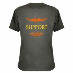 Камуфляжная футболка Support