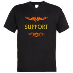Мужская футболка  с V-образным вырезом Support