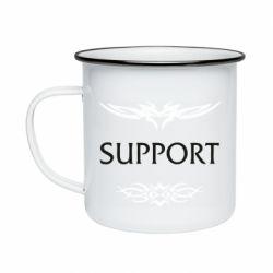 Кружка эмалированная Support