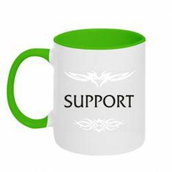 Кружка двухцветная 320ml Support