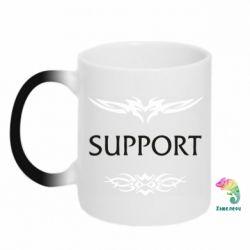Кружка-хамелеон Support