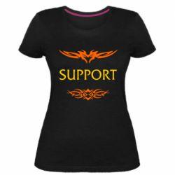 Женская стрейчевая футболка Support