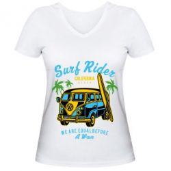 Жіноча футболка з V-подібним вирізом Surf Rider