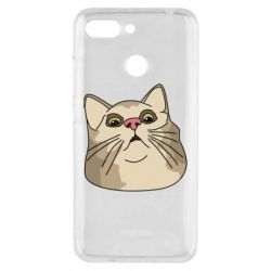 Чехол для Xiaomi Redmi 6 Surprised cat