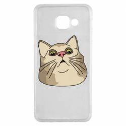 Чехол для Samsung A3 2016 Surprised cat