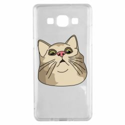 Чехол для Samsung A5 2015 Surprised cat