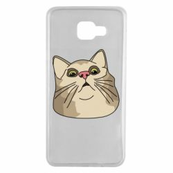 Чехол для Samsung A7 2016 Surprised cat