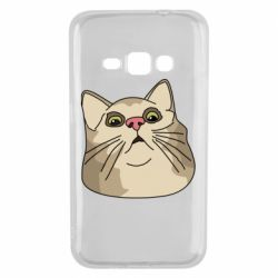 Чехол для Samsung J1 2016 Surprised cat